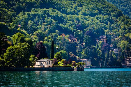 european hillside town - Lake Como, Lombardy, Italy Stock Photo - Rights-Managed, Code: 700-03644364