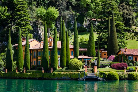 Lakefront Villa, Ossuccio, Lake Como, Lombardy, Italy Stock Photo - Rights-Managed, Code: 700-03644366