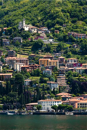european hillside town - Bellano, Lake Como, Lombardy, Italy Stock Photo - Rights-Managed, Code: 700-03644379