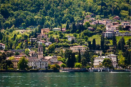 european hillside town - San Giovanni, Lake Como, Lombardy, Italy Stock Photo - Rights-Managed, Code: 700-03644372