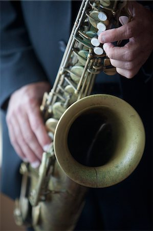 Man Playing Saxophone Stock Photo - Rights-Managed, Code: 700-03644685
