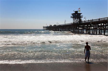 exterior bar - Fishing at San Clemente Beach, Orange County, California, USA Stock Photo - Rights-Managed, Code: 700-03644880