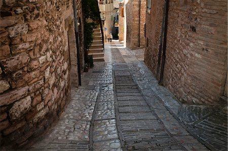 Cobblestone Street in Spello, Umbria, Italy Stock Photo - Rights-Managed, Code: 700-03641141