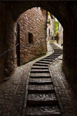 Cobblestone Street in Spello, Umbria, Italy Stock Photo - Rights-Managed, Code: 700-03641142