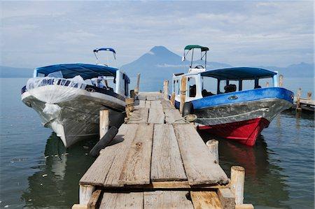 Water Taxis, Lake Atitlan, Panajachel, Solola Department, Guatemala Stock Photo - Rights-Managed, Code: 700-03654479