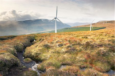 Wind Turbines in Mountains, Novar Wind Farm, Ross-shire, Scotland Stock Photo - Rights-Managed, Code: 700-03654506