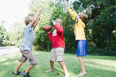 Boys Playing Football Stock Photo - Rights-Managed, Code: 700-03659104