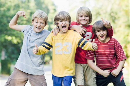 Boys, Outside, Park, summer, friends, sports, football, team Stock Photo - Rights-Managed, Code: 700-03659106