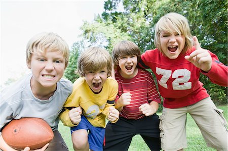 Boys Playing Football Stock Photo - Rights-Managed, Code: 700-03659103