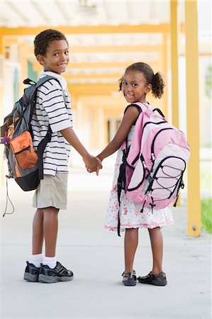 Brother and Sister Going to School Stock Photo - Rights-Managed, Code: 700-03659117