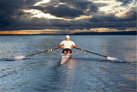Man Rowing, Toronto, Ontario, Canada Stock Photo - Rights-Managed, Code: 700-03659175