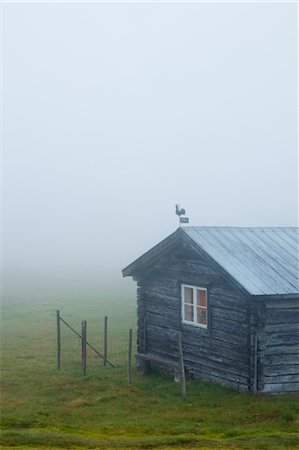 Rustic House in Mist Stock Photo - Rights-Managed, Code: 700-03659253