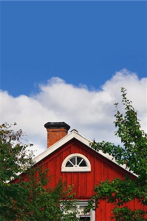 Red wooden house, Smaland, Sweden Stock Photo - Rights-Managed, Code: 700-03659285