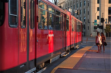 San Diego Trolley at Station, San Diego, California,  USA Stock Photo - Rights-Managed, Code: 700-03659304