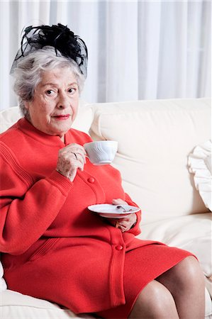 Elderly Woman Drinking Tea Stock Photo - Rights-Managed, Code: 700-03665591