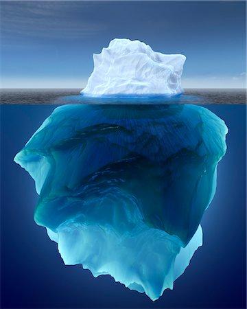 Underwater View of Iceberg Stock Photo - Rights-Managed, Code: 700-03665661