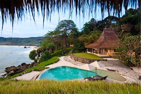Swimming Pool and Villa at Nihiwatu Resort, Sumba, Lesser Sunda Islands, Indonesia Stock Photo - Rights-Managed, Code: 700-03665775