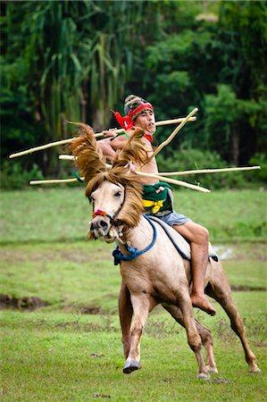 Pasola Warrior, Sumba, Indonesia Stock Photo - Rights-Managed, Code: 700-03665828