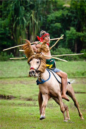 Pasola Warrior, Sumba, Indonesia Stock Photo - Rights-Managed, Code: 700-03665828
