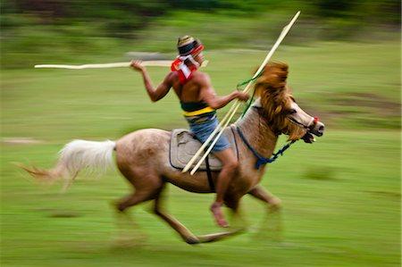 Pasola Warrior, Sumba, Indonesia Stock Photo - Rights-Managed, Code: 700-03665829