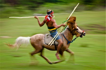 Pasola Warrior, Sumba, Indonesia Stock Photo - Rights-Managed, Code: 700-03665829