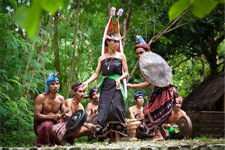 Traditional Dancers, Nihiwatu, Sumba, Indonesia Stock Photo - Rights-Managed, Code: 700-03665844
