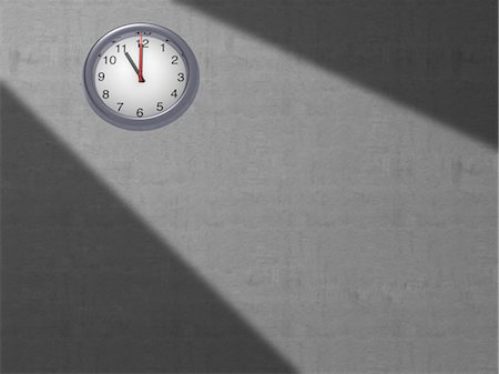 Clock on Grey Wall Stock Photo - Rights-Managed, Code: 700-03660005