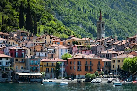 european hillside town - Varenna, Lake Como, Province of Lecco, Lombardy, Italy Stock Photo - Rights-Managed, Code: 700-03660201