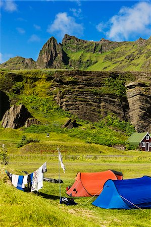 Campsite, Vik, Myrdalur, South Iceland, Iceland Stock Photo - Rights-Managed, Code: 700-03662549