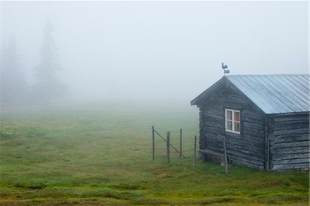 Hut in Mist, Sweden Stock Photo - Rights-Managed, Code: 700-03685769