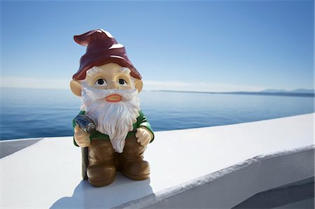 dwarf - Garden Gnome on Ferry, Strait of Georgia, British Columbia, Canada Stock Photo - Rights-Managed, Code: 700-03685838