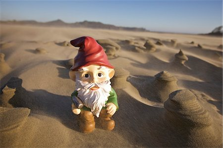 dwarf - Gnome in Desert Stock Photo - Rights-Managed, Code: 700-03685840