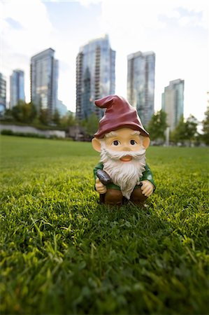 dwarf - Gnome in front of City, Vancouver, British Columbia, Canada Stock Photo - Rights-Managed, Code: 700-03685843