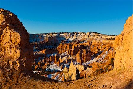 rugged landscape - Dawn at Bryce Canyon National Park, Utah, USA Stock Photo - Rights-Managed, Code: 700-03686029