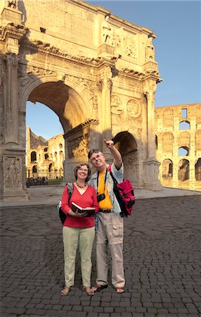 Senior Couple at Constantine's Arch, Rome, Lazio, Italy Stock Photo - Rights-Managed, Code: 700-03686062
