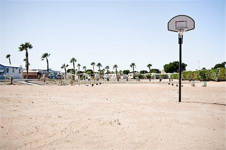 Basketball Hoop in RV Park, Yuma, Arizona, USA Stock Photo - Rights-Managed, Code: 700-03686129