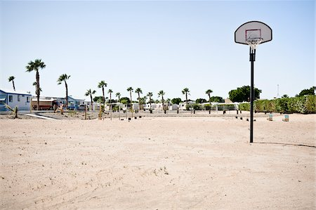 Basketball Hoop in RV Park, Yuma, Arizona, USA Stock Photo - Rights-Managed, Code: 700-03686129