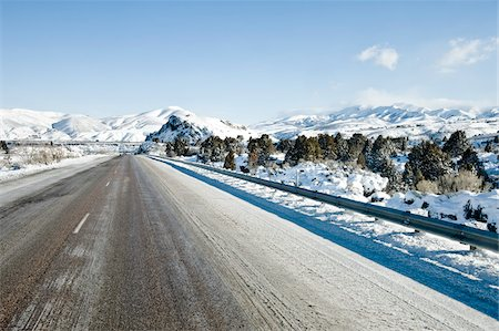 Highway 5 in Winter, Idaho, USA Stock Photo - Rights-Managed, Code: 700-03686133