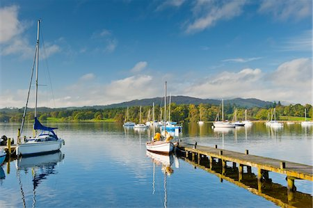Sailboats on Lake Windermere, Lake District, Cumbria, England Stock Photo - Rights-Managed, Code: 700-03682157