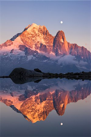snow capped - Aiguille Verte and Les Drus Reflected in Lac Blanc, French Alps, Chamonix, France Stock Photo - Rights-Managed, Code: 700-03682464