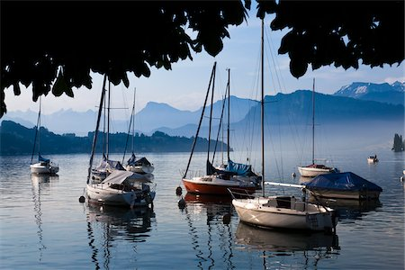 sports and sailing - Boats on Lake Lucerne, Lucerne, Switzerland Stock Photo - Rights-Managed, Code: 700-03696863