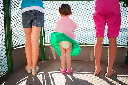 female rear end - Little Girl's Skirt Blowing in Wind on Ferry Boat, San Juan Islands, Washington State, USA Stock Photo - Rights-Managed, Code: 700-03696878
