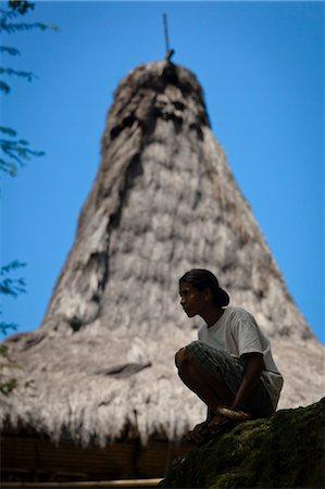 Woman Crouching, Pahola Village, Sumba, Indonesia Stock Photo - Rights-Managed, Code: 700-03696908