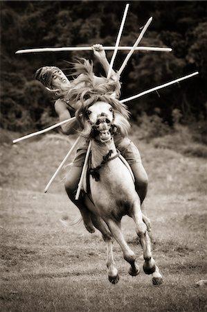 Pasola Warrior, Sumba, Indonesia Stock Photo - Rights-Managed, Code: 700-03696914