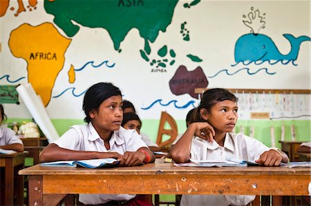 Children in Classroom, Larawatu School, Sumba, Indonesia Stock Photo - Rights-Managed, Code: 700-03696916