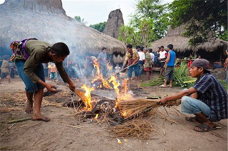 Funeral Ceremony in Waihola Village, Sumba, Indonesia Stock Photo - Rights-Managed, Code: 700-03696910