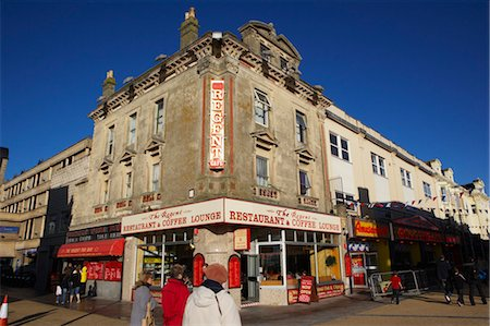 Restaurant and Street Scene, Weston-super-Mare, Somerset, England Stock Photo - Rights-Managed, Code: 700-03696974