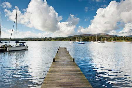 Dock and Sailboats, Lake Windermere, Lake District, North West England, UK Stock Photo - Rights-Managed, Code: 700-03697878