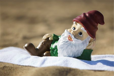 dwarf - Gnome Relaxing on the Beach Stock Photo - Rights-Managed, Code: 700-03697929
