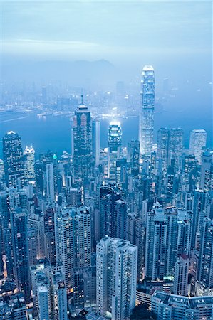View of Hong Kong from Victoria Peak, China Stock Photo - Rights-Managed, Code: 700-03697975